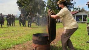 *Simulasi Pemadam Kebakaran Pangkalan TNI AU Sam Ratulangi*