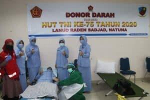 Lanud RSA Meriahkan HUT TNI ke-75 Dengan Menggelar Kegiatan Donor Darah di Kab. Natuna
