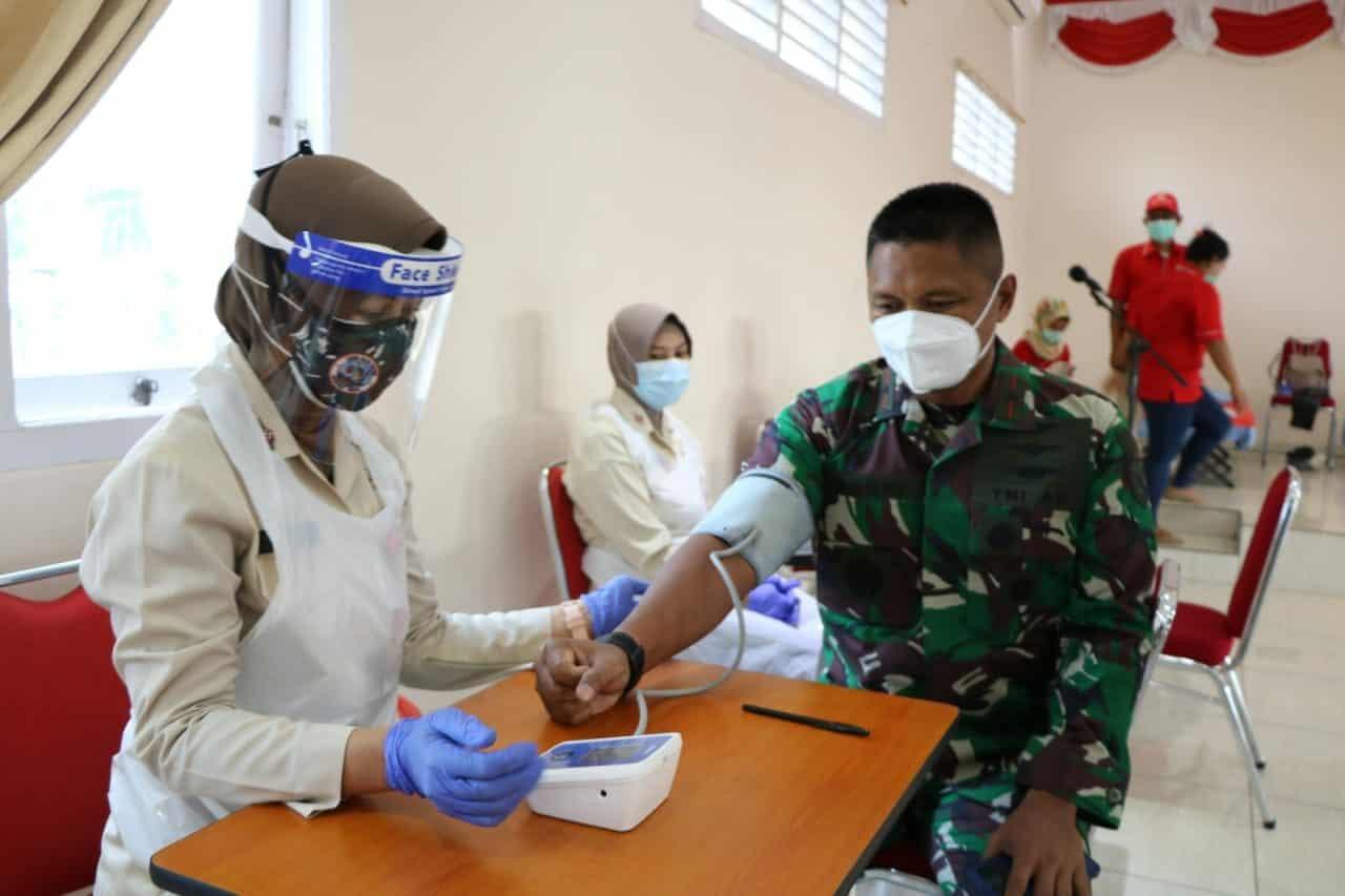 Lanud Silas Papare Menggandeng PMI Gelar Kegiatan Donor Darah