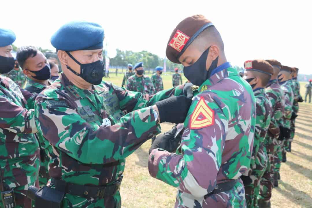 113 Siswa Susparadas A-188 Raih Brevet Paradas di Lanud Sulaiman