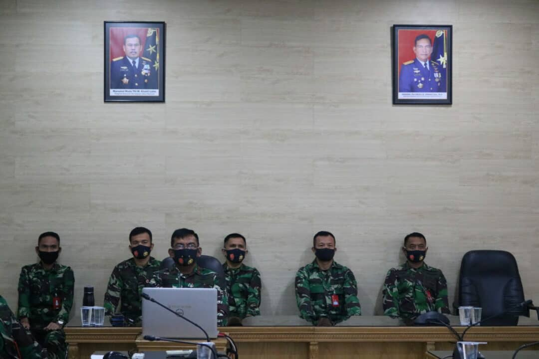Pangkosekhanudnas III Ikuti Taklimat Awal Wasrikkap Itjenau Kohanudnas dan Jajaran Melalui Vicon