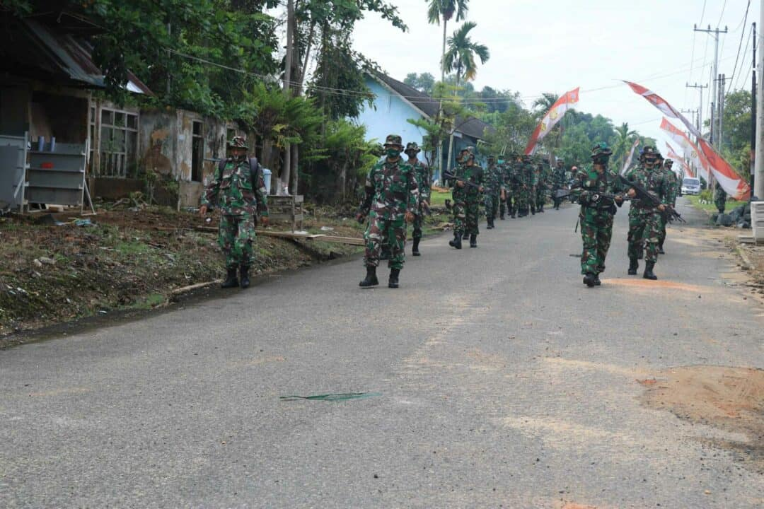 Latihan Pertahanan Pangkalan di Lanud Sjamsudin Noor