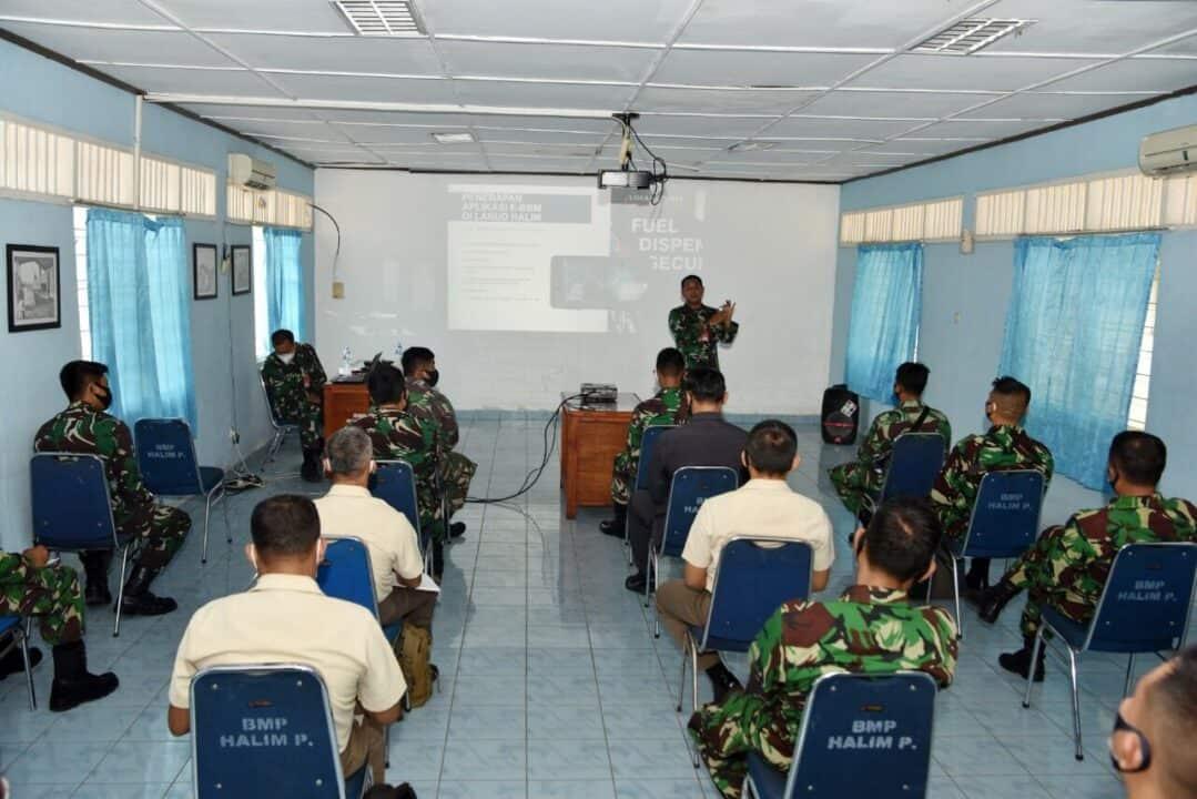Kenalkan e-BBM, Seksi BMP Lanud Halim Gelar Sosialisasi