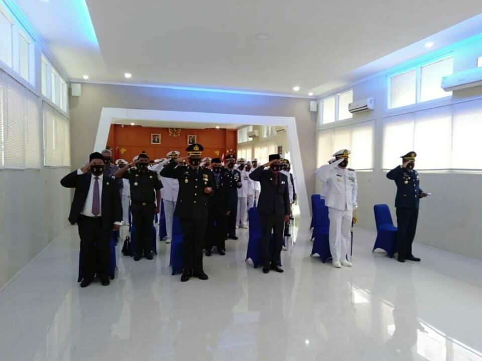 Danlanud MUS Hadiri HUT TNI AL Ke-75 Secara Virtual.