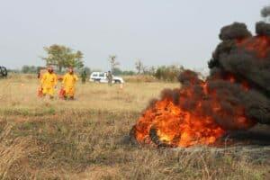 Latihan Penanggulangan Kebakaran Lanud Sugiri Sukani Dilaksanakan Dengan Aman dan Lancar.