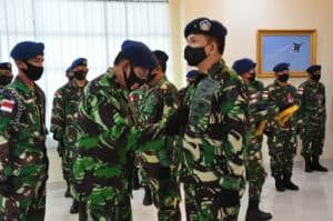 Pangkoopsau III Secara Resmi Melantik Marsma TNI Hesly Paat Sebagai Kaskoopsau III Baru