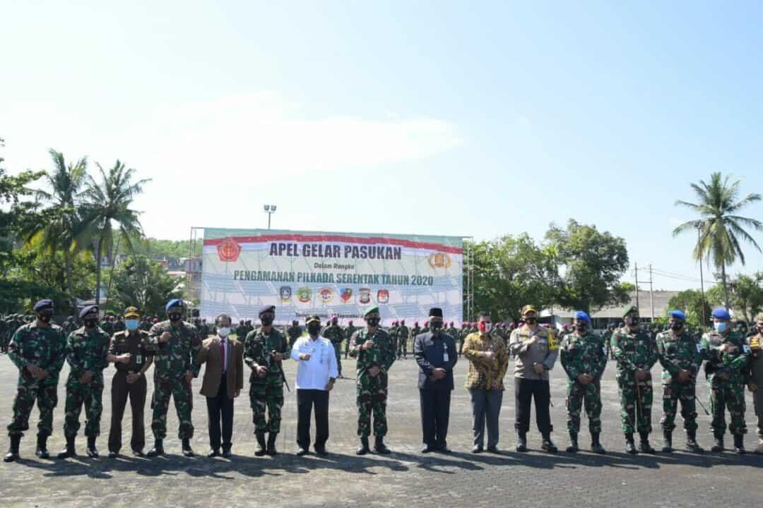 Danlanud RHF Hadiri Apel Gelar Pasukan Pengamanan Pilkada Serentak 2020 Kepulauan Riau