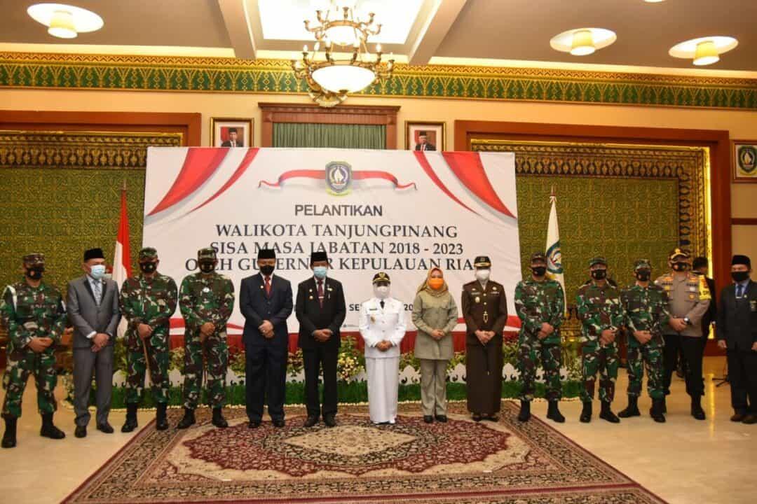 Danlanud RHF Hadiri Pelantikan Walikota Tanjungpinang