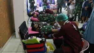 Bantu Pasokan Darah di DKI, Koopsau I Gelar Baksos Donor Darah dalam Rangka Hari Jadi Ke -75 TNI
