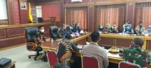 Wakili Danlanud Sugiri Sukani, Kadisops Hadiri Rakor Di Pemkab Majalengka