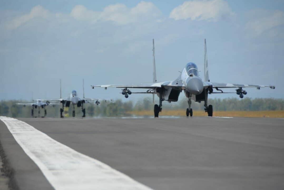 Lanud Iswahjudi Kerahkan Seluruh Kekuatan Udaranya Pada Latihan Puncak Koopsau II Tahun 2020