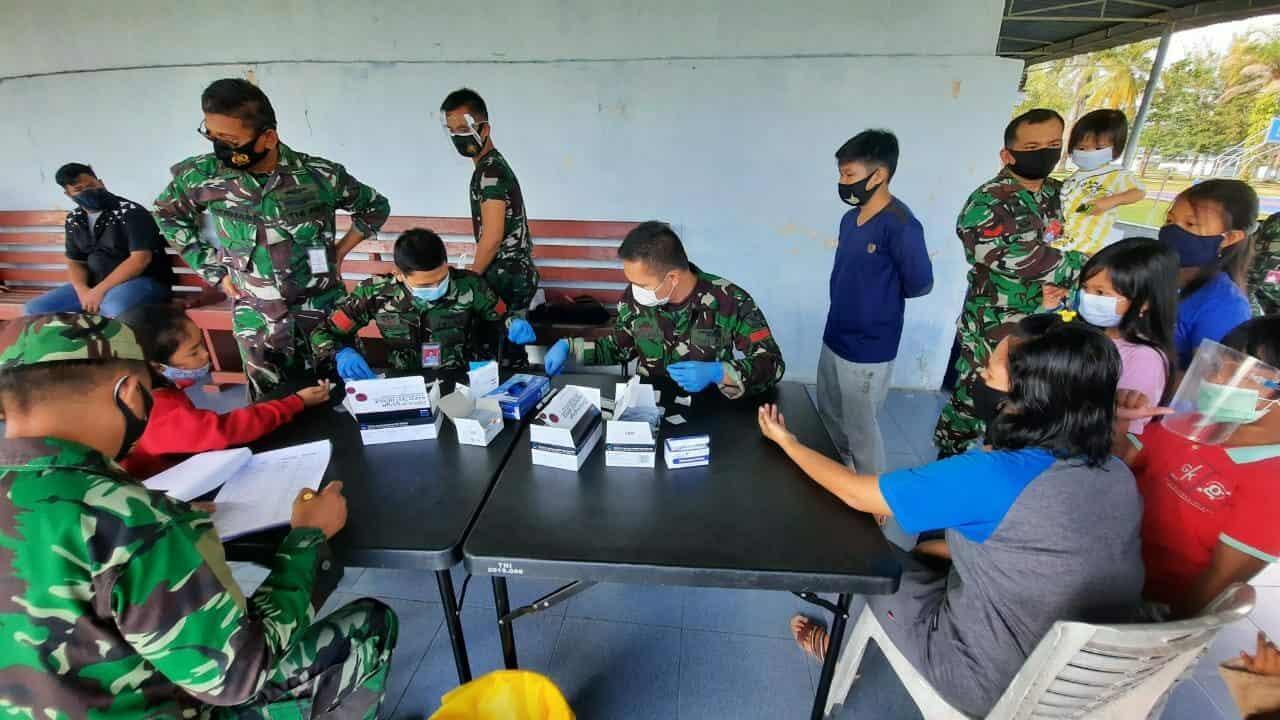 Cegah Covid-19, Ribuan Warga Lanud Rsn Laksanakan Rapid Test