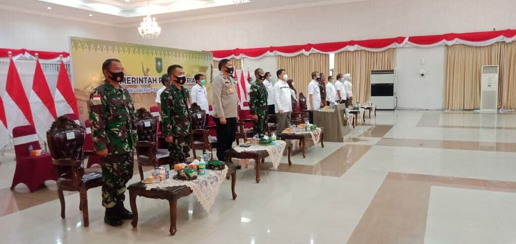 Kadispers Lanud Rsn hadiri Rakor Sinergitas Kebijakan Pemerintah Pusat dan Daerah