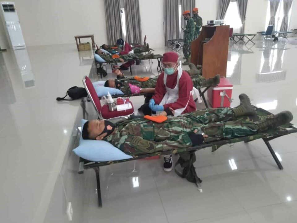 HUT Ke – 73 KorPaskhas menggelar kegiatan Bhakti Sosial dan Donor Darah