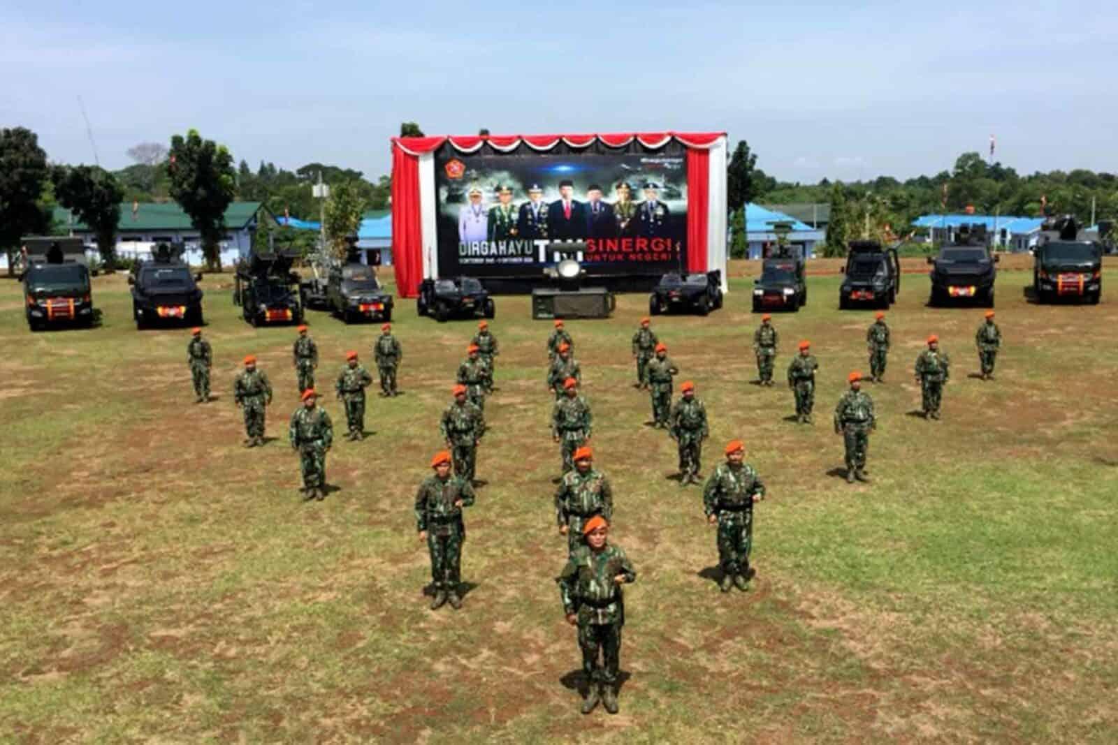 Dankorpaskhas Ikuti Upacara Virtual HUT Ke-75 TNI