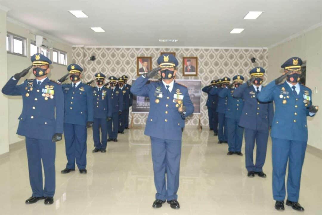 Paskhas Medan Ikuti Live Streaming Upacara Peringatan HUT ke-75 Tentara Nasional Indonesia
