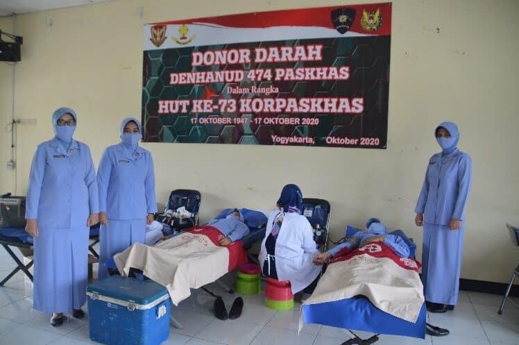 Peringati HUT KE 73 Korpaskhas Denhanud 474 Paskhas Melaksanakan Donor Darah