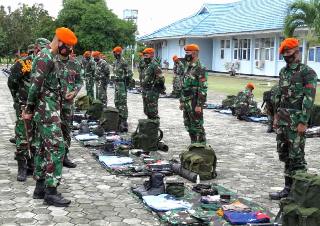 Danyonko 462 Paskhas Pimpin Apel Pelepasan Penugasan Satpamwal Mabes TNI