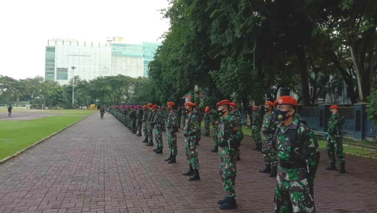 Paskhas Medan Ikuti Apel Gabungan Antisipasi Perkembangan Situasi Wilayah Sumatera Utara