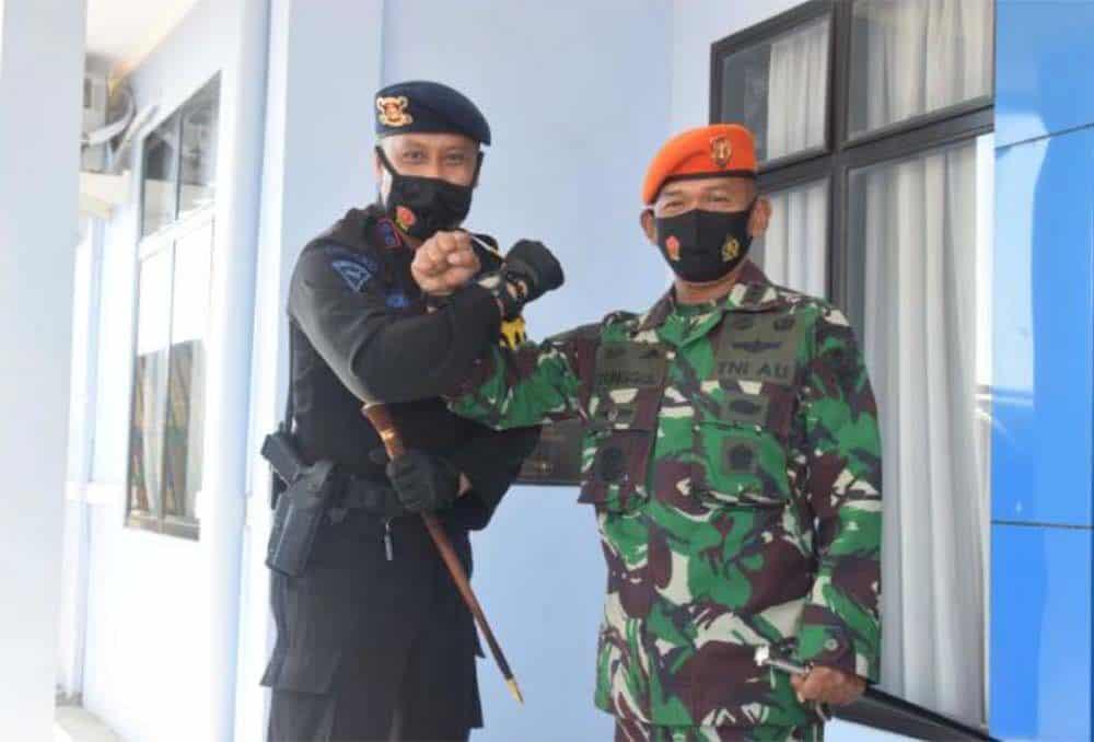 Sinergitas TNI Polri Pada Peringatan HUT Ke-75 TNI Di Wing II Paskhas