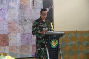 Danlanud Wiriadinata Dampingi Aspotdirga Kasau Tinjau TMMD Ke-109 Di Kabupaten Tasikmalaya