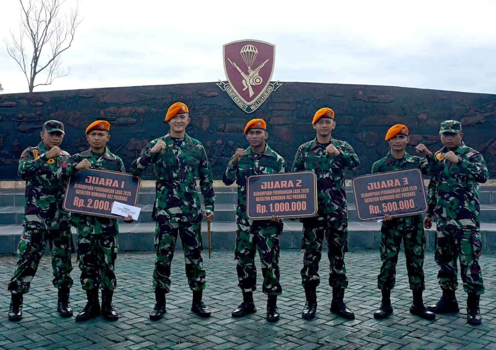 Danyonko 462 Paskhas Memberikan Pengharga Kepada Peraih Nilai Tertinggi Di Laso 2020