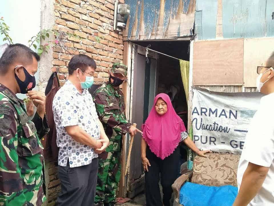 Danwing III Paskhas Tinjau Lokasi Rumah Yang Direnovasi