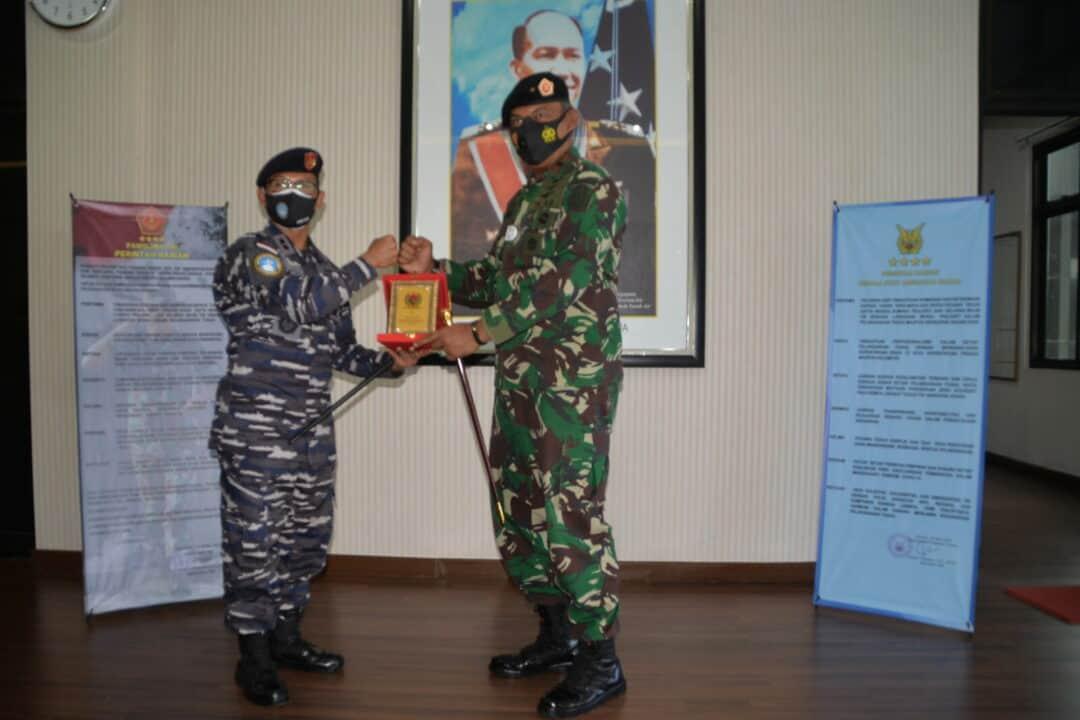 Pangkosekhanudnas III Menerima Kunjungan Akademi Angkatan Laut KRI Dewa Suci