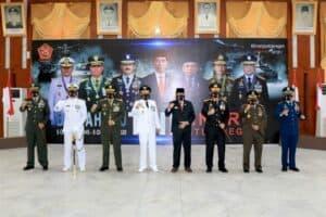 Komandan Lanud Sjamsudin Noor – Forkopimda Kalimantan Selatan Ikuti Upacara HUT TNI ke-75 Secara Virtual