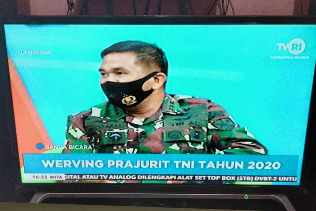 Melalui TVRI, Tiga Pimpinan Tinggi TNI Kalimantan Selatan Kampanyekan Penerimaan Prajurit TNI