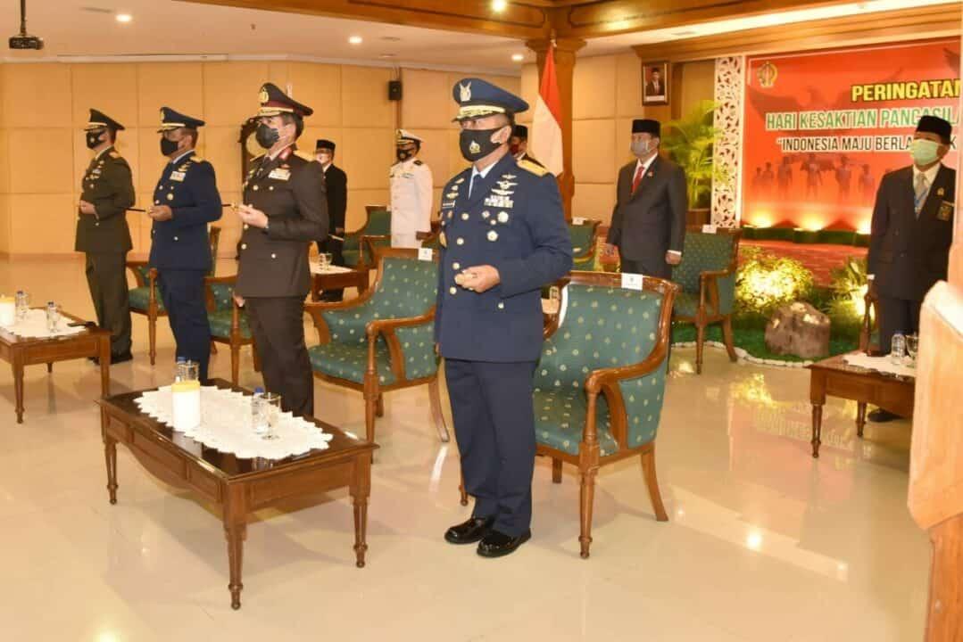 Danlanud Adisutjipto hadiri upacara peringatan Hari Kesaktian Pancasila di Provinsi DIY