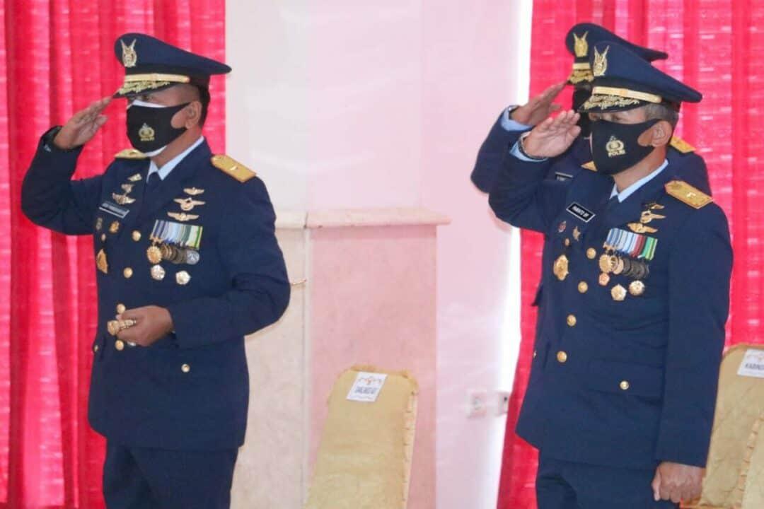 Danlanud Adisutjipto Hadiri Upacara Virtual HUT ke-75 TNI di AAU