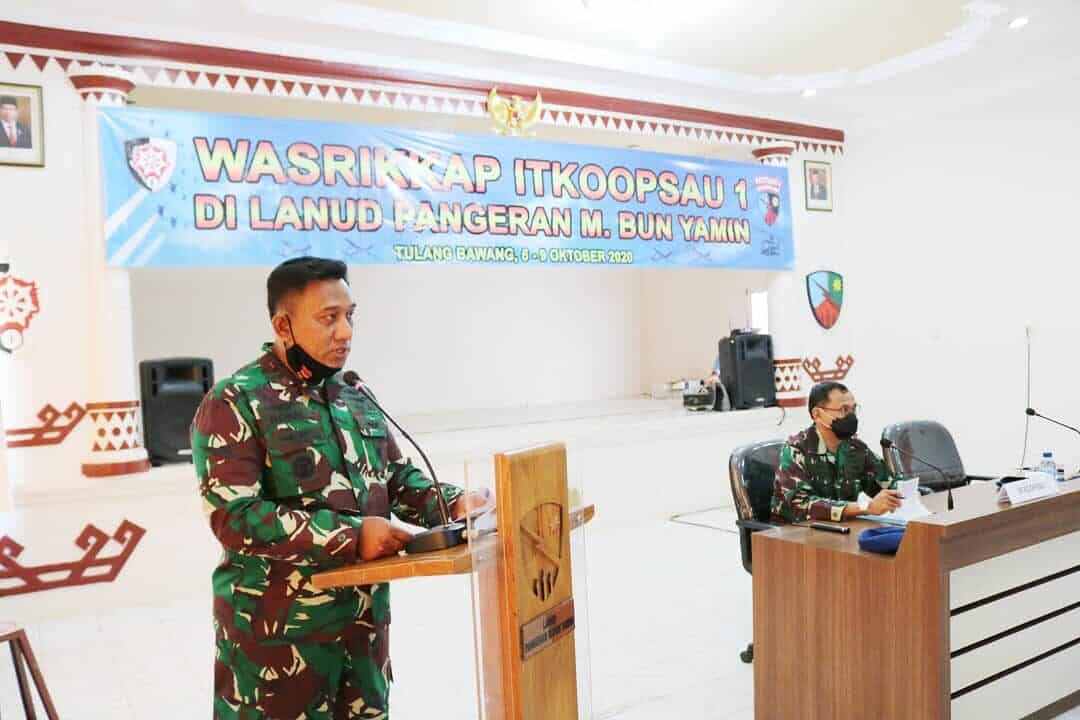 Entry Briefing Wasrikkap Itkoopsau I di Lanud Bny