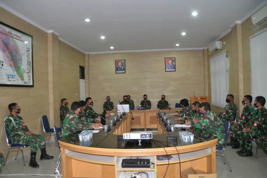 Pangkosekhanudnas III Ikuti Taklimat Akhir Itjenau Kohanudnas dan Jajaran Melalui Vicon