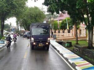 IringanTruck Lanud Mus Turun Ke Jalan Kota Sabang, Sosialisasi Covid-19