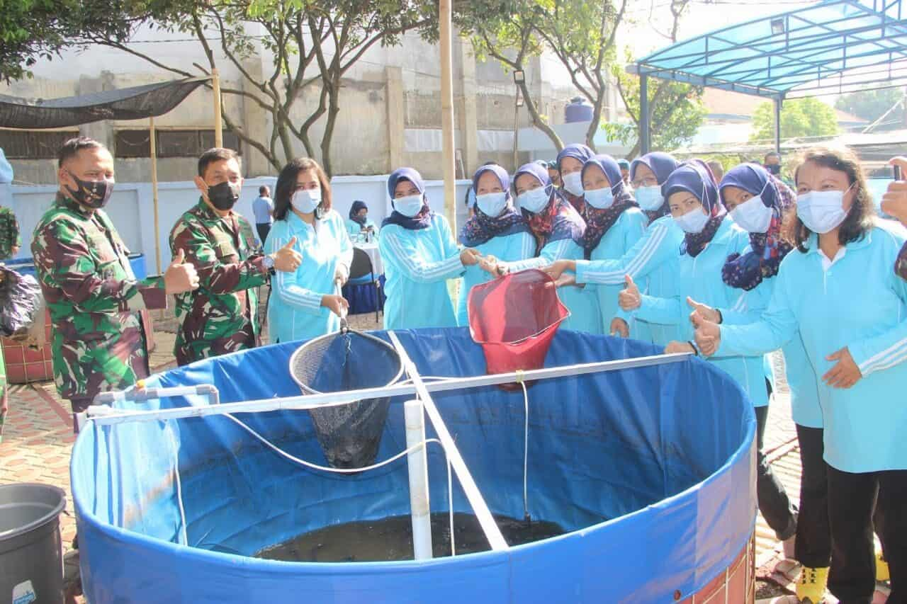 Dilahan Kolam Ikan Mawingdiktek Bandung, Kolonel Iman Gozali Panen Lele Perdana