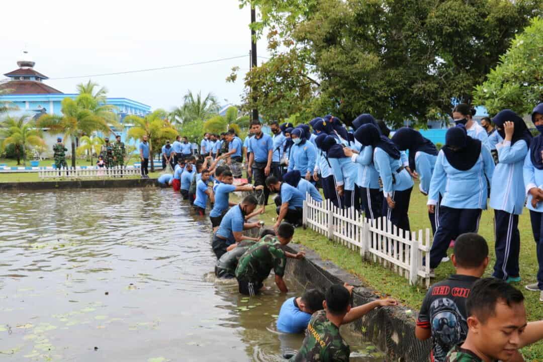 Panen Ikan Lele Lanud Dhomber Dukung Ketahanan Pangan