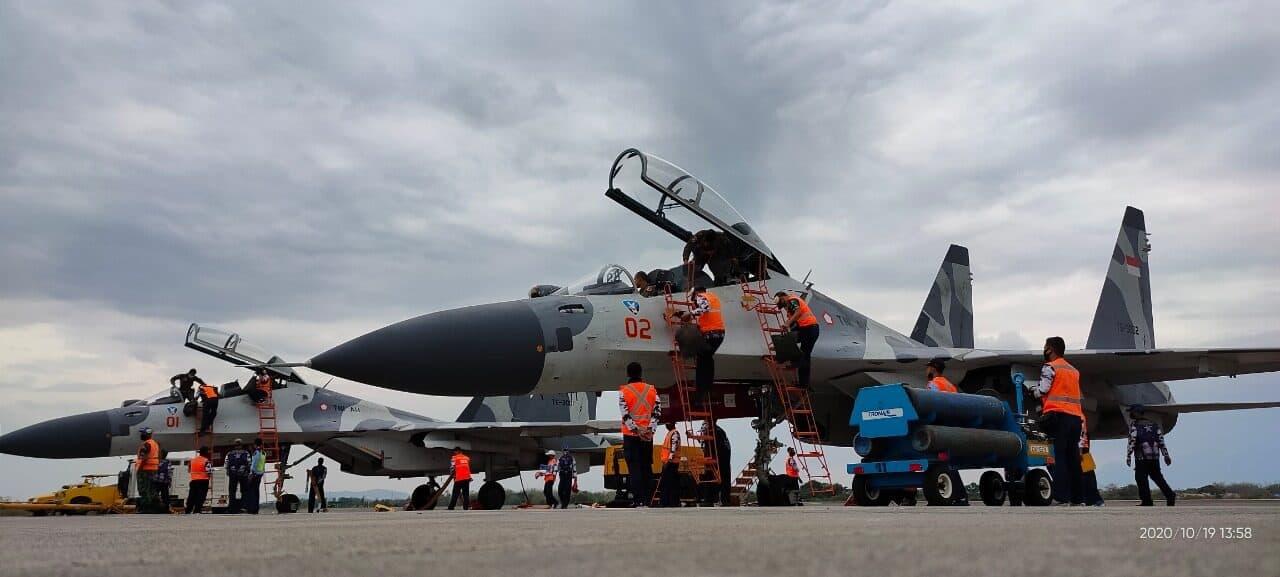 Hari Pertama Latihan MOT dan GFAC, 62 Sorties Penerbangan Siap Laksanakan Misi Operasi Udara.