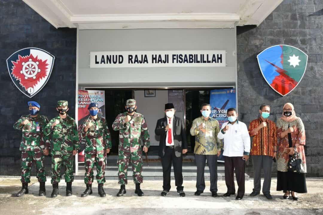 Danlanud RHF Terima Kunjungan Kerja Pjs. Gubernur Kepri