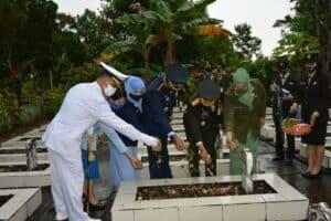 Danlanud Dhomber Hadiri Ziarah Nasional Peringatan HUT ke-75 TNI