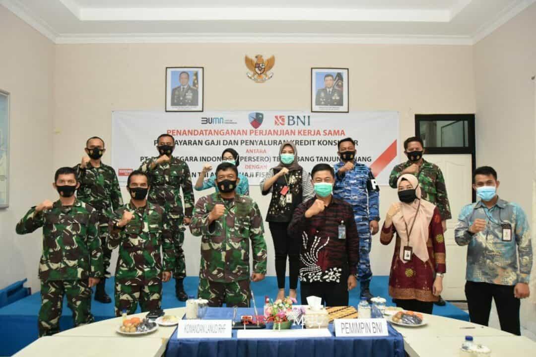 Lanud RHF Jalin Kerja Sama dengan Bank BNI Tanjungpinang
