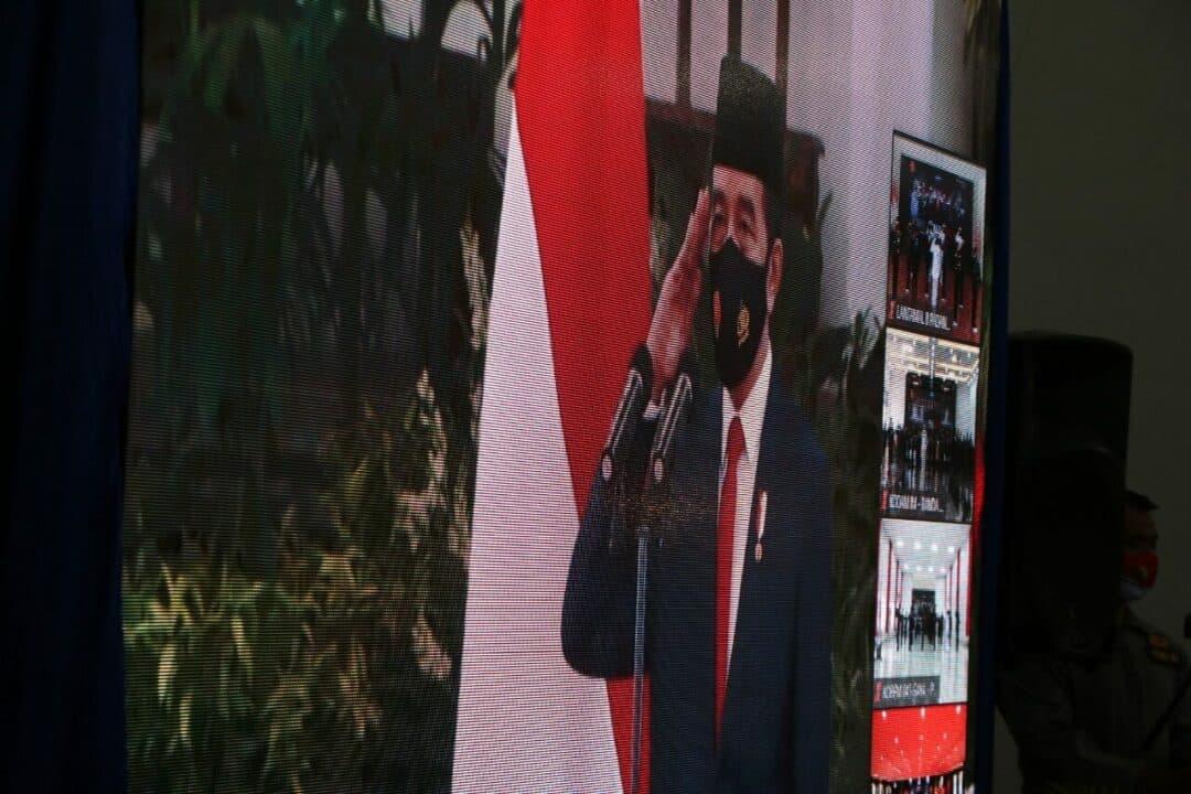 Peringatan Ke-75 TNI Tahun 2020 Secara Virtual Di Kota Padang