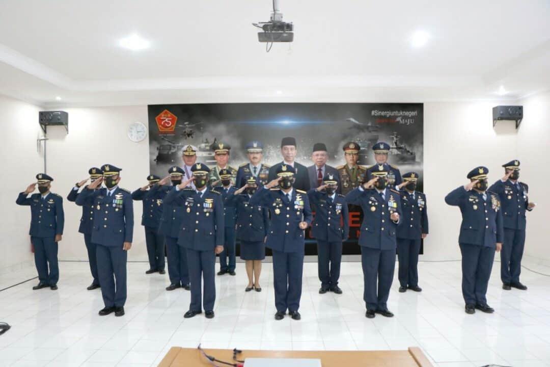 Komandan Lanud Suryadarma Bersama Jajaran Melaksanakan Upacara Memperingati HUT ke-75 TNI secara Virtual