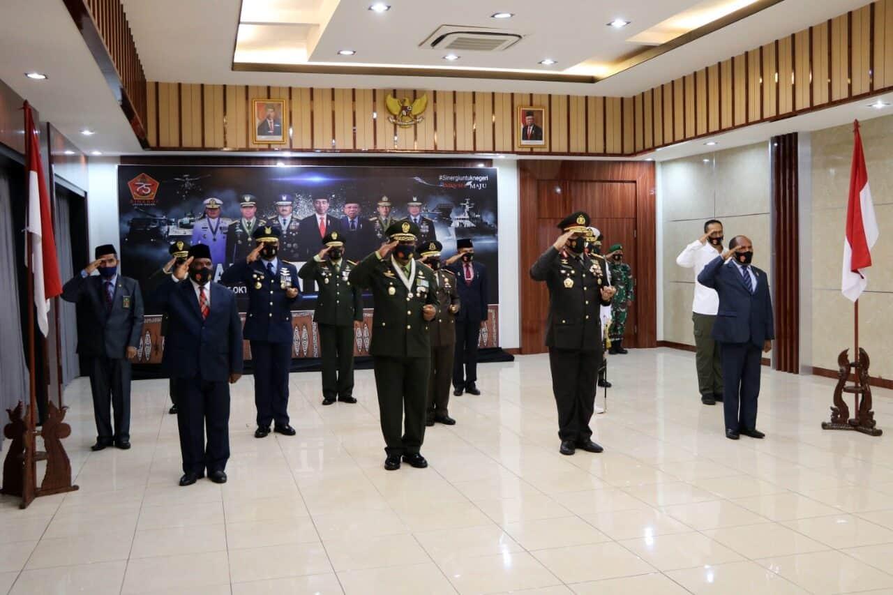 Komandan Lanud Silas Papare hadiri Upacara HUT ke-75 TNI Secara Virtual