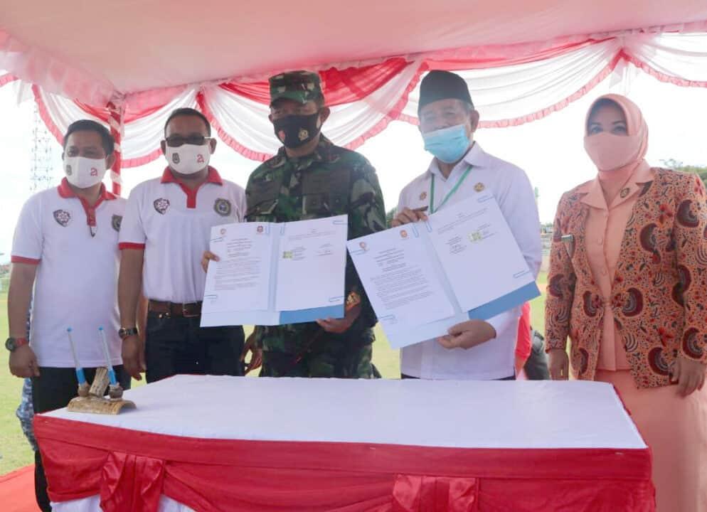 Pangkoopsau III dan Gubernur Maluku Utara Sepakat Bangun SMK Kedirgantaraan Di Kabupaten Morotai.