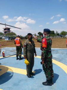 EmpatPesawat Skadron Udara 7 Wing 8 Transit di Lanud Sugiri Sukani