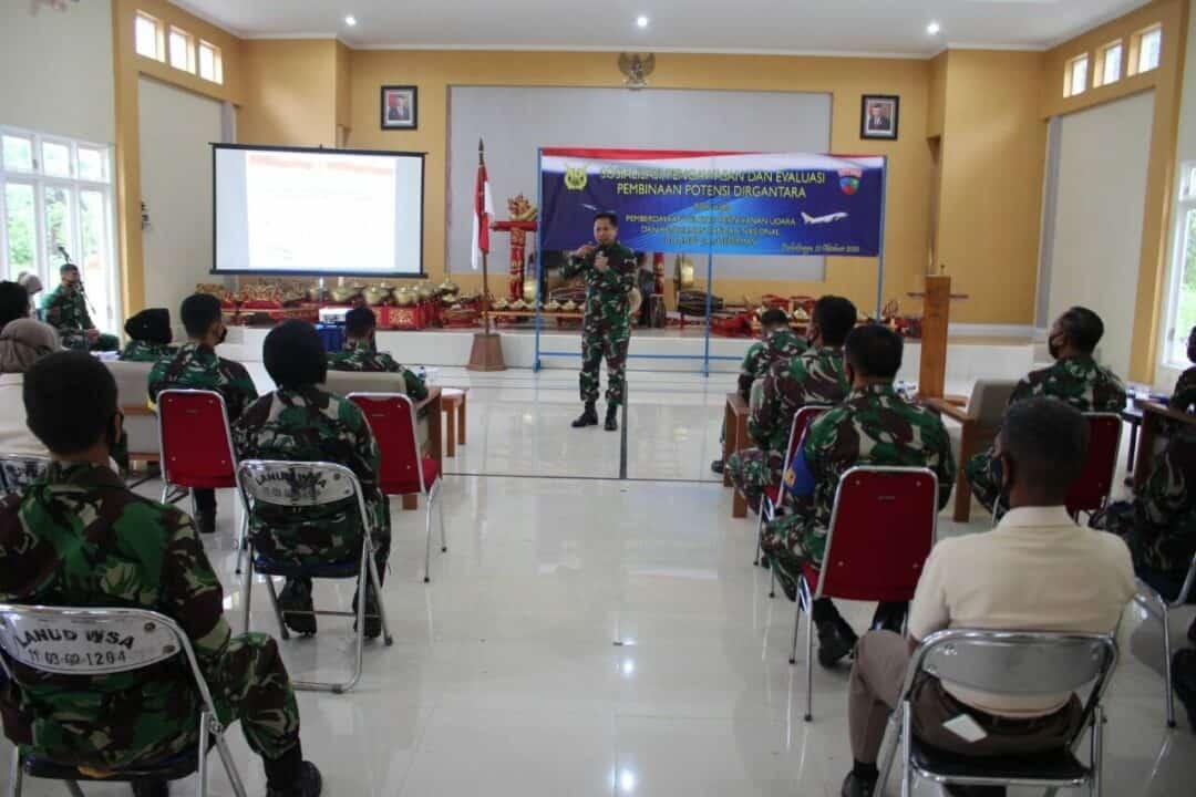 Sosialisasi, Pengawasan dan Evaluasi Binpotdirga di Lanud J.B.Soedirman