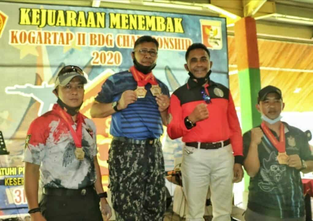 Seskoau Raih Juara Di Kejuaraan Menembak Kogartap II/Bandung