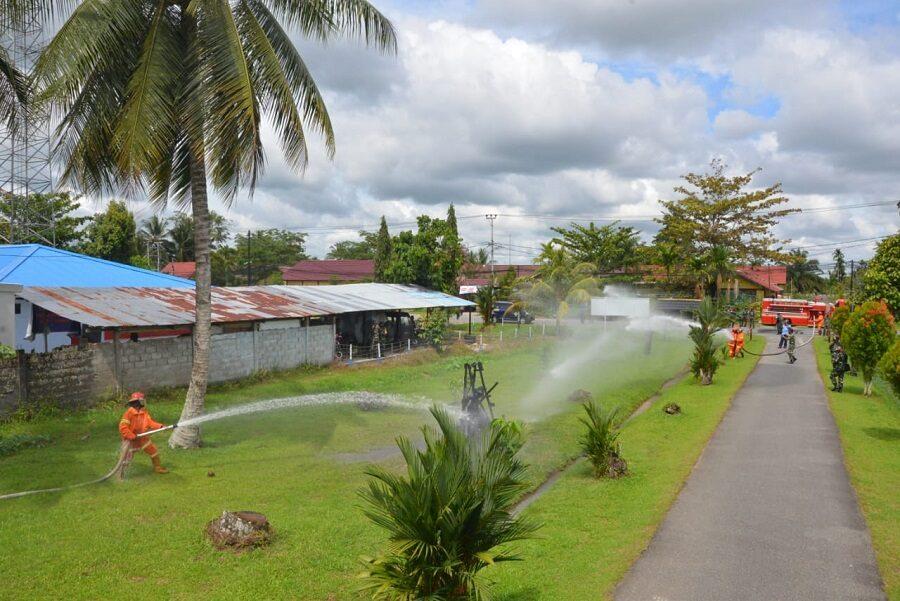 Pangkalan TNI AU Supadio Gelar Latihan Penanggulangan Bahaya Kebakaran