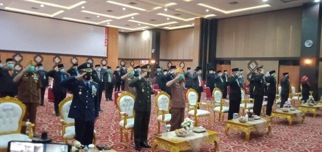 Hari Pahlawan Ke-75, Kadispers Lanud Rsn Ikuti Ziarah Nasional Secara Virtual